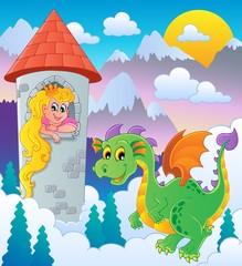 Printed kitchen splashbacks Castle Dragon topic image 1