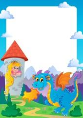 Printed kitchen splashbacks Castle Fairy tale theme frame 2