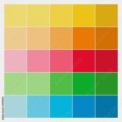 farbquadrate farbmuster auf betonputz stockfotos und lizenzfreie bilder auf. Black Bedroom Furniture Sets. Home Design Ideas