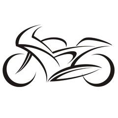 Fototapete - motorbike logo
