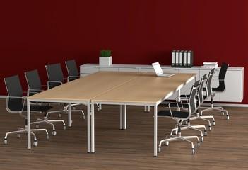 Konferenzraum - Rot