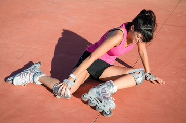 Roller skater injury