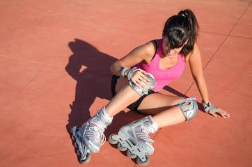 Roller knee injury
