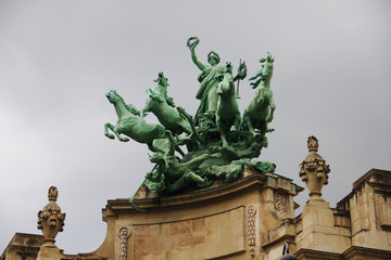 Statue on the Grand Palais in Paris