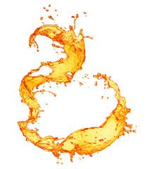 Orange splashing