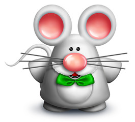 Whimsical Cartoon Mouse