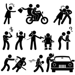 Criminal Robber Burglar Kidnapper Rapist Thief Icon Pictogram - fototapety na wymiar