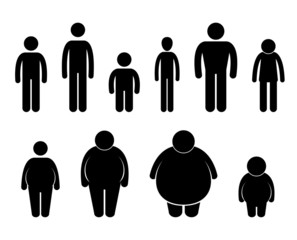 Man Body Figure Size Icon Symbol Sign Pictogram