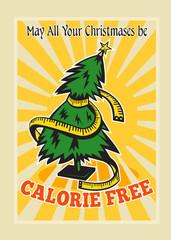 Calorie Free Christmas Tree Tape Measure