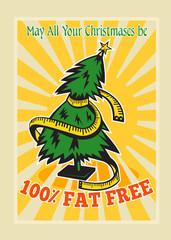 Fat Free Christmas Tree Tape Measure
