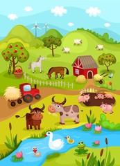 Keuken foto achterwand Rivier, meer farm card