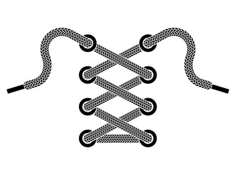 vector shoe lace symbol