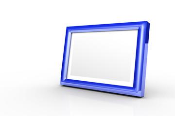 3D - Bilderrahmen blau