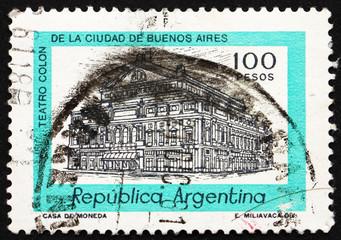 Postage stamp Argentina 1978 Columbus Theater, Buenos Aires