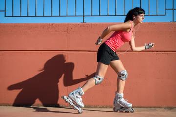 Female roller skater