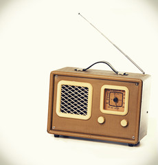 Vintage radio set player