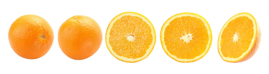 Orange fruit isolated on a white background + Clipping Path