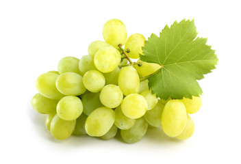white grapes on white
