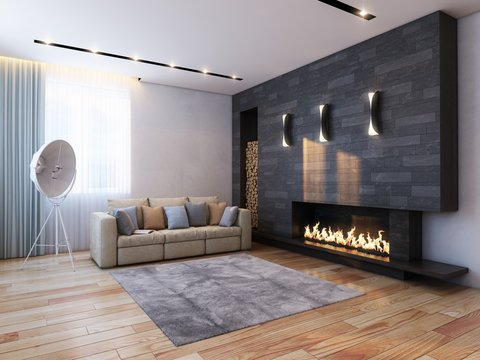 new interior design in minimalist style