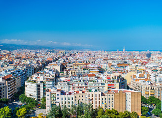 bird view barcelona