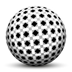 Kugel, Muster, Struktur, Fliesenmuster, Geometrie, Quadrate, 3D