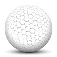 Kugel, 3D, Wabe, sechseckig, Wabenform, Bienenwabe, Geometrie
