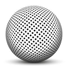 Kugel, 3D, Punkte, gepunktet, Muster, dotted, Struktur, Textur
