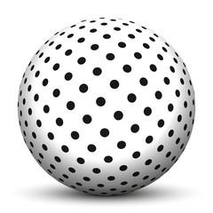 Kugel, 3D, Punkte, gepunktet, Muster, Oberfläche, Point, Design