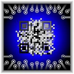 Qr code button