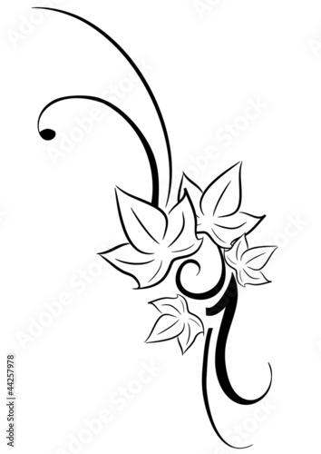 Edera tatuaggio tribale immagini e vettoriali royalty for Fiori stilizzati immagini