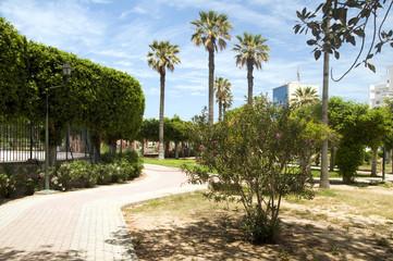 gardens walkway in waterfront Oasis Park El Kantaoui Sousse Tuni