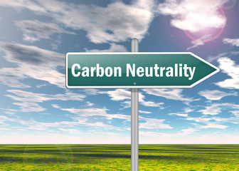 "Signpost ""Carbon Neutrality"""