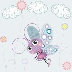 Бабочка в полете