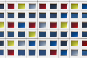 Multicolor Windows Building