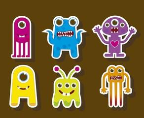 Aluminium Prints Creatures cute monsters