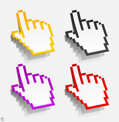 Photo sur Plexiglas Pixel cursor in the form of stickers