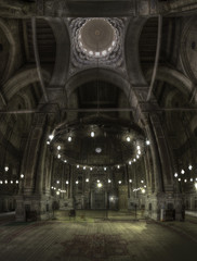 Stitched Panorama - Refaie/Sultan Hassan Mosque in Cairo Egypt