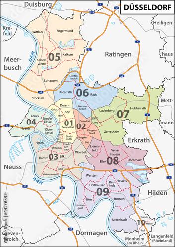 Düsseldorf Stadtteile Karte.Düsseldorf Stadtbezirk Stadtteil Stockfotos Und Lizenzfreie