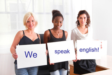 We speak english!