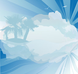 blue abstract summer illustraton