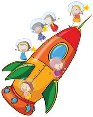 kids on rocket