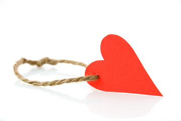 Herz-Schild mit Textfreiraum