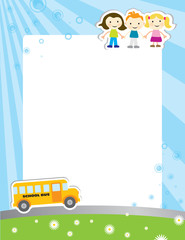 Template background for school poster