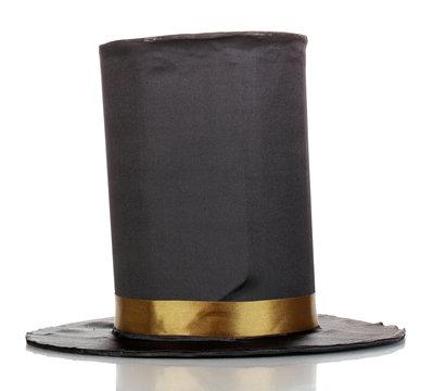 Black cylinder isolated on white