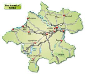 Verkehrskarte des Kantons Oberösterreich