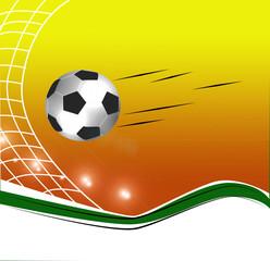football ball flying through the air on the stadium