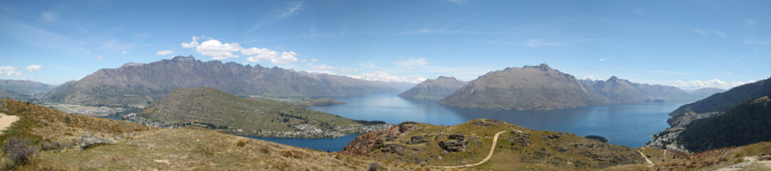 Queenstown from Above, New Zealand