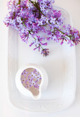Lilac on a plate