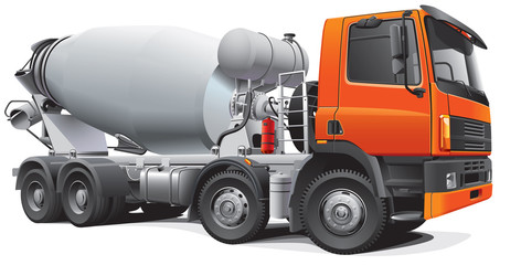 large concrete mixer