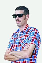 Photos illustrations et vid os de moustachu for Cuisinier lunettes rondes